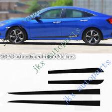 Carbon Fiber Color Car Body Side Moulding Stickers Trim For Honda Civic 2016-18