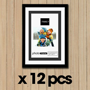 A4 BK 12Pc Set Certificate Multi Photo Picture Frame Wholesale Wall Display