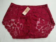 DressNStyle NWT VICTORIA'S SECRET Sexy Lace Lacey Maroon Panty Underwear L-XL