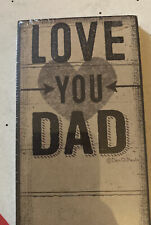 SALE! Love You Dad Magnetic Notepad by Primitives By Kathy, Perfect Gift!