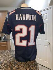 Duron Harmon Patriots Autographed Blue Football Jersey JSA