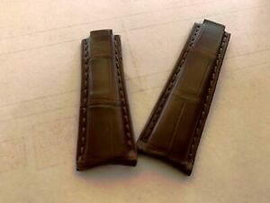 Genuine alligator skin curved end Band Strap Bracelet (FITS) Rolex DAYTONA