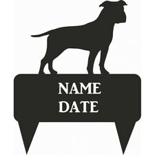 Staffy Rectangular Memorial Plaque