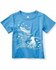nwt TEA COLLECTION boys 12-18 m s/s blue GOLDEN BEACH tee octopus boat