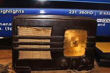 Emerson 1930's Walnut Bakelite Radio with Police Band Model 149 New York USA