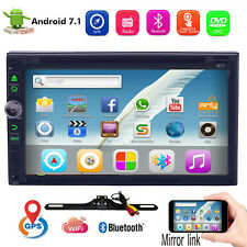 Indash Navigation 7in Double 2Din Android 7.1 Car Stereo GPS WIFI Receiver OBD2
