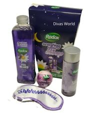 Radox Lavender Bath Soak Bath Oil Bath Bomb & Sleep Mask Calming Pamper Gift Set