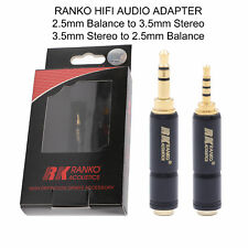 AUDIO HEADPHONE ADAPTER JACK RANKO High-End 3.5mm to 2.5mm Plug Jack Connector