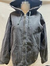 Abercrombie And Fitch Superior Work Clothing Men's XL Gray Zip Up Jacket Hood