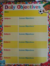 Educational/School Supplies: Colorful Daily Objectives Classroom Wall Chart