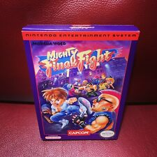 Mighty Final Fight BOX ONLY (With Box Protector) Nintendo NES Authentic Rare!