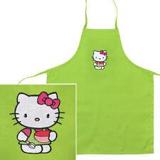 Cute Baking Hello Kitty Lime Green 100% Polyester Children's Apron Bib, Crafts
