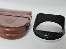 Rollei Rolleiflex Bay IV 4 metal lens hood with leather case for Rolleiwide MINT
