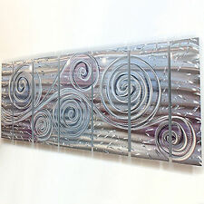 New listing Modern Abstract Painting Metal Wall Art Sculpture - Royal Winds by Jon Allen
