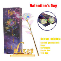 Gold Foil Dipped Rose 24K Flower Dipped Valentine's Days Love Gifts Decoration