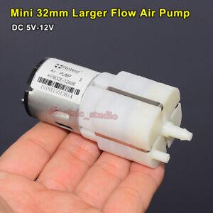 DC 5V-12V Large Flow Micro Air Pump Oxygen Pump Inflator Pump Aquarium Fish Tank