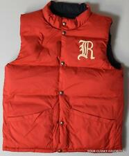 Ralph Lauren Boys XL (18-20) Elmwood Down Fill Reversible Vest Jacket Red/Blue