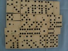 VINTAGE DOMINOES WITH DOVE-TAILED WOODEN BOX - COMPLETE SET