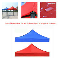 10x10ft Oxford Cloth Rain Proof Canopy Umbrella Patio Gazebo  Cover 4-Corners