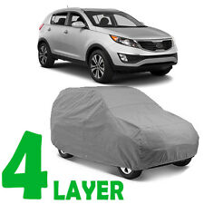 TRUE 4 LAYERS GRAY FITTED SUV COVER INDOOR/OUTDOOR WATER PROOF for KIA SORENTO