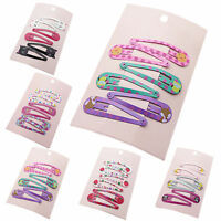 "6pcs 2"" Charm Cute Hair Clips Snaps Hairpin Girls Baby Kids Hair Bow Accessories"