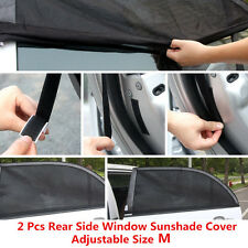 Car Rear Window Sunshade for Baby Breathable Mesh Cover UV Shield 2 Pcs Size M