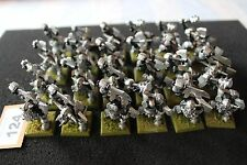 Warhammer Orcs and Goblins Black Orcs Regiment x30 Two Hand Weaps Metal Figures