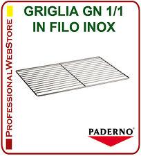 GRIGLIA IN FILO ACCIAIO INOX GASTRONORM GN 1/1 RIPIANO per FRIGO FREEZER FORNO