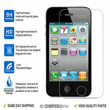 TEMPERED GLASS SCREEN PROTECTOR LCD GUARD FILM FOR APPLE IPHONE 4 4S