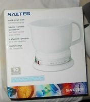 Salter Add Weigh Wet Dry Kitchen Jug Scale Measures Multply Ingredients At Once