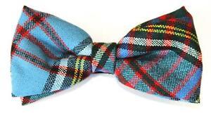 Anderson Tartan Bow Tie 100% Wool Scotland Pre-tied