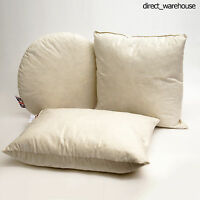 Pack of 4 100% Natural Duck Feather Cushion Pad Filler Insert Hand Made in UK