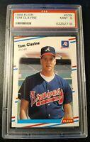 1988 FLEER TOM GLAVINE PSA 9 MINT RC #539 Braves Rookie 1995 World Series MVP 📈