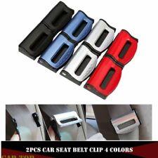 2x Universal Car Seat Belt Clip Safety Adjustable Fastener Auto Seatbelt Clips