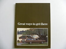 Brochure CHRYSLER PLYMOUTH great ways to get there de 1972