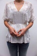 Maglie e camicie da donna manica corti seta , Taglia 40