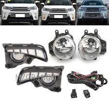 For Toyota Highlander 2017 18 19 LED DRL Daytime Running Fog Lights Harness Kit
