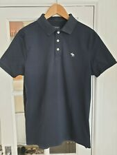 Mens Abercrombie & Fitch Navy Polo Shirt Size L