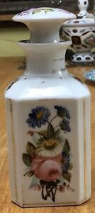 Old Paris Porcelain Empire Tea Caddy & Stopper Cover early 19th c