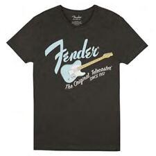 Fender Original Telecaster Men's T Shirt Dark Grey/Sonic Blue M P/N 9193010522