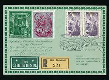 Christkindl-Reco-Karte 24.12.1975 + Vignette UZ 10    23/11/15