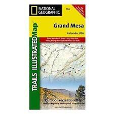 Grand Mesa, CO - (Nat Geo) Illustrated Trail Map (#136)