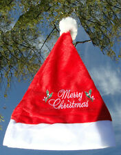 Santa Hat with Merry Christmas Children s Size Extra Small  (10 Piece Set)
