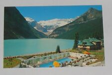 Canada - Canadian Rockies - Lake Louise And Swimming Pool - Old Postcard