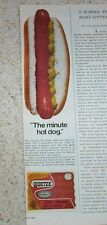1972 vintage ad - GOETZE hot dogs Baltimore Maryland advertising PRINT ADVERT