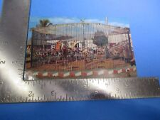 Vintage Tigers Performing Cage Sarasota  Ringling Bros Circus Post Card PC58