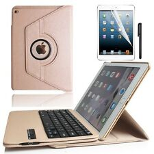Hot 360 Rotating Leather Case For ipad Mini3/2/1 +Removable Bluetooth Keyboard