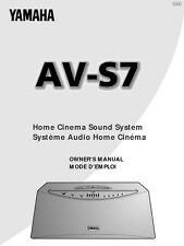 Yamaha AVS-7 Sound System Owners Manual