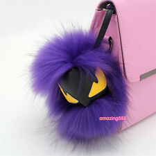 Full Fox Mink Fur Monster Key chain Bag Pendant Car Key Ornament On Promotion