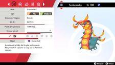 Pokemon SCOLOCENDRE shiny 6IV + masterball - Battle Ready - Epée/Bouclier